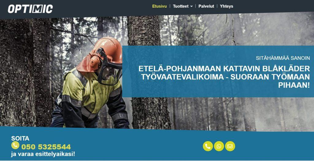 Optimic.fi vaatteiden toimittaja